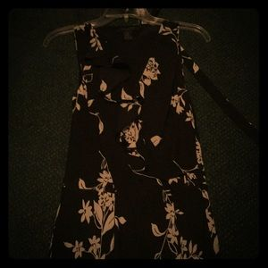 Black and cream colored dress
